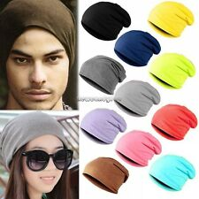 Men Women Unisex Solid Slouchy Hip-hop Cap Beanie Hat Beany Warm 9 Colors NC89