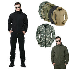 Men Outdoor Tactical Soft Shell Jacket Waterproof Army Military Hooded jacket