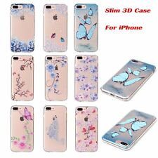 3D Slim Soft TPU Rubber Gel Silicone Back Case Cover For Apple iPhone 7/7 Plus/6