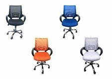 Tate Office Chair with Mesh Back - Black, Blue, Orange, White