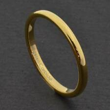 2mm Gold Tungsten Carbide Unisex Wedding Band Ring
