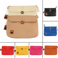 Messenger Postman Button Vintage PU Candy Color Handbag Ladies Casual Bags IB
