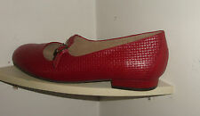 WOMEN'S SHOES-HOMY PED- 9 C-RED -CLOSED TOE,BACK-PUMPS-LEATHER-NEW WITHOUT TAG