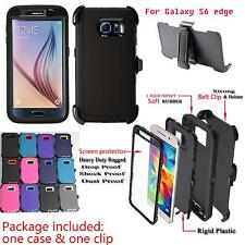 For Samsung Galaxy S6 Edge Case Cover Holster [Belt Clip Fits Otterbox Defender]
