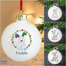 Personalised Pet Christmas Xmas Tree Bauble Gifts for Dog Cat Rabbit