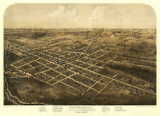 Historic Map Coldwater Michigan 1868 Branch County 18x24 24x36 36x54 Poster