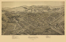 Map Jeannette Pennsylvania 1897 Westmoreland County 18x24 24x36 36x54 Poster NEW