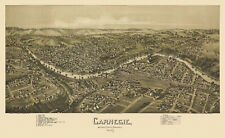 Old Map Carnegie Pennsylvania 1897 Allegheny County 18x24 24x36 36x54 Poster