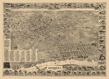 Historic Map of Elizabeth New Jersey 1898 Union County 18x24 24x36 36x54 Poster