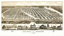 Antique Map Ocean Grove New Jersey 1881 Monmouth County 18x24 24x36 36x54 Poster