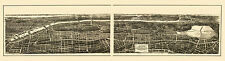 Historic Map of New York City 1897 County 18x24 24x36 36x54 Poster