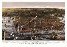 Vintage Map Brooklyn New York 1879 New York County 18x24 24x36 36x54 Poster