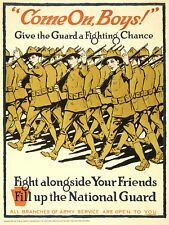WWI Poster Repro Recruiting Give Guard A Chance Fight Alongside 18x24 24x36 NEW