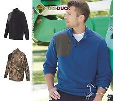 DRI DUCK Interval DDX Quarter-Zip Nano-Fleece Nylon Pullover 7345 up to 3XL