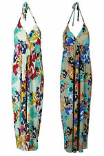 Collection London Ladies Floral Printed Halter Neck Long Summer Maxi Dress