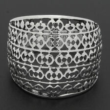 Sterling Silver Designer Inspired Wide Filigree Dome Ring High Polish