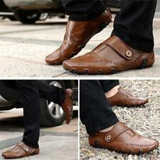 Men's Genuine Leather Moccasins Slip On Loafers Flats Outdoor Driving Shoes JJ