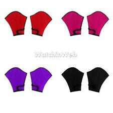 Unisex Water Sports Fingerless Webbed Aquatic Fitness Swim Training Gloves