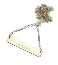 Personalized Gold Bar Necklace - Gold Engraved Name Necklace - Name Plate