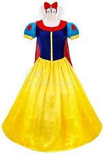 Snow White Costume Set Fairytale Halloween Party Ball Gown Princess Cos Dress