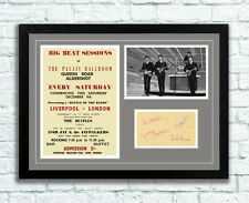 The Beatles Concert Poster and Autographs Memorabilia Poster Aldershot 1961