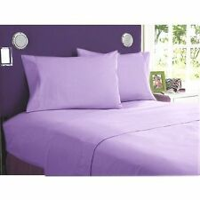 1000 TC Lilac Solid-Bedding Sheets Collection 100%Egyptian Cotton All Sizes