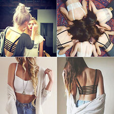 WOMEN'S SEXY BRALETTE CAGED BACK CUT OUT STRAPPY BRA BRALET VEST CROP TOP HOT