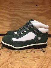 TIMBERLAND FIELD BOOT GREEN WHITE VINTAGE GS KIDS YOUTH SZ 4-7 Y  41968 L