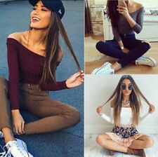 Fit Long Sleeve Knitted Pullovers 1PCS Casual Stretch Sweaters Fashion Women
