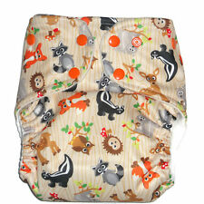 Cloth diaper Pocket  with 1 pc Insert- Animal Forest Pattern