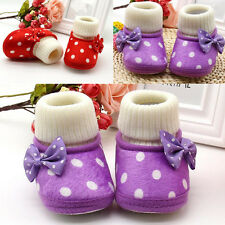 1 Pair Cute New Warm Infant Baby Soft Sole Boots Shoes Newborn Girl Toddler