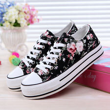 New Women's Shoes Sports Casual Sneakers Canvas Running Sneakers Flat Lace Up