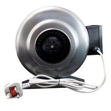 Inline Duct Extractor Hydroponics Bathroom Fan Industrial Steel Body All Sizes