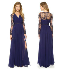 Sexy Boho Bridesmaid Chiffon Lace Wedding Cocktail Prom Evening Party Maxi Dress
