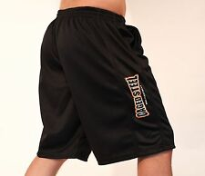 Caged Steel Hybrid MMA Mesh Casual Black Shorts *RRP £29.99*