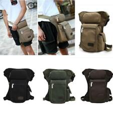 Men's Canvas Motorcycle Travel Hiking Riding Fanny Pack Waist Leg Thigh Drop Bag