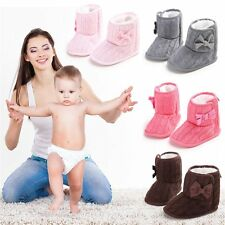 Cute Autumn Winter Warm Baby Boy Girls Shoes Soft Sole Toddler Infant Boots AU