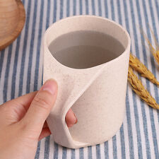 Fashion Eco Friendly Healthy Wheat Straw Plastic Cup Travel Tumbler Coffee Mug