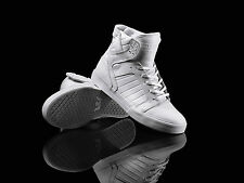 Supra Shoes Skytop High Top Sneaker/Trainers – White/white S18087 BNWT