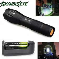 Zoomable 4000 Lumens 5 Modes CREE XML T6 LED Flashlight Lamp With 18650+Charger