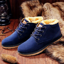 Fashion Men's Winter Snow Boots Thicken Casual Suede lace up cotton Warm Shoes