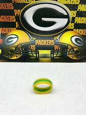 SAR -SAFE ACTIVE RINGS 8mm Yellow Green PACKERS Silicon Wedding Band Ring