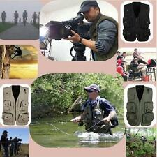 Multi Pocket Jacket Mesh Vest Costume Waistcoat Fly Fishing Hunting Journalist