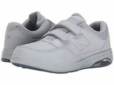 NEW MENS NEW BALANCE MW813H Grey Leather HOOK AND LOOP WALKING SHOES NEW IN BOX