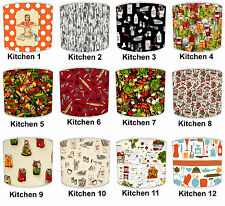 Vintage Cookery Kitchen Food Print Table Lampshades Or Ceiling Light Shades
