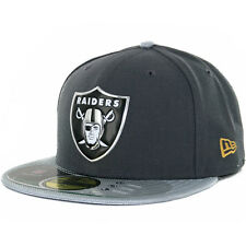 New Era 59FIFTY 2015 Gold Collection Oakland Raiders Fitted Hat (Silver) Cap