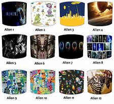 Lampshades Ideal To Match Aliens Duvets Outer Space Duvets & Aliens UFO Wall Art