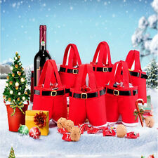 Christmas candy Sack Santa Pants Stocking trousers wine Bottle Bag Gift/wrapping
