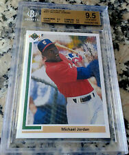 MICHAEL JORDAN 1991 Upper Deck SP1 BGS 9.5 GEM Rookie Card RC Baseball WHITE SOX