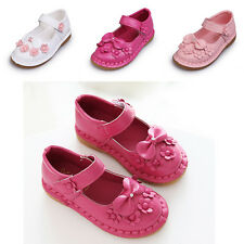 Bow Peas Princess Kids Girls Casual Comfortable Flats New Flower Shoes Baby